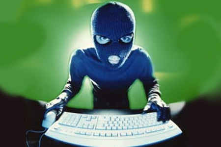 Hacker at Keyboard