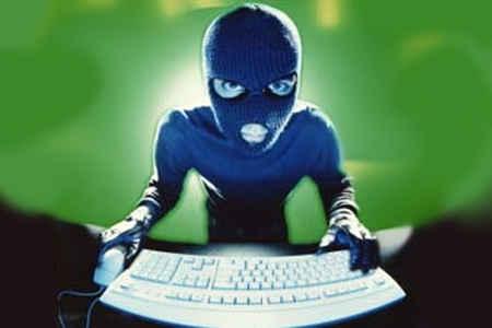 Hacker at Keyboard
