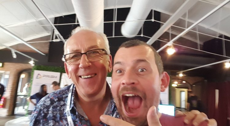 "JonTheNiceGuy and ""The Chief"" Peter Bleksley at BSides Liverpool 2019"