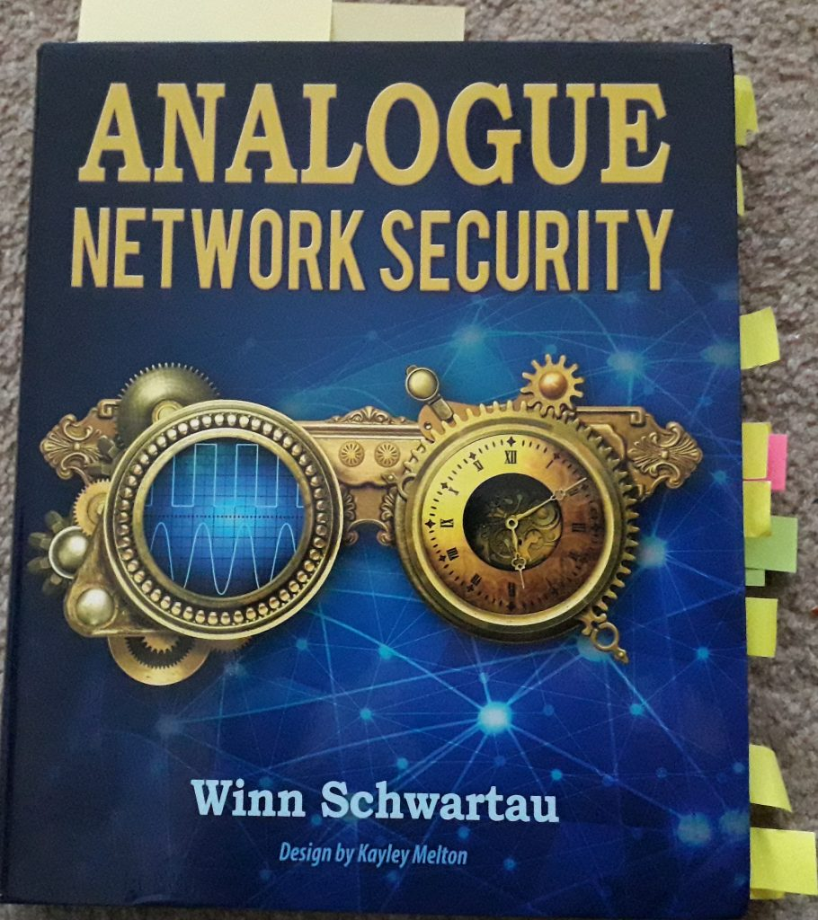 The front cover of the book Analogue Network Security by Winn Schwartau