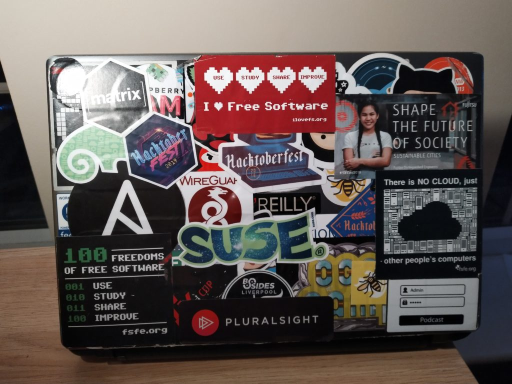 """The back of """"Minilith"""", my 7 year old Laptop."""